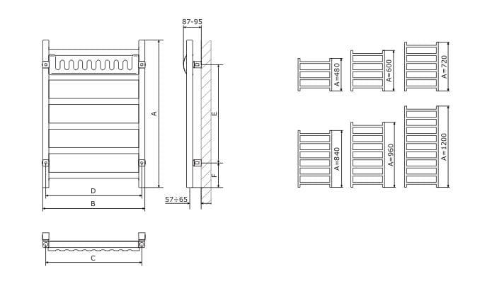 40a6cbcc29 ... Grzejnik łazienkowy 50x48 cm Terma Simple 480x500 rysunek techniczny